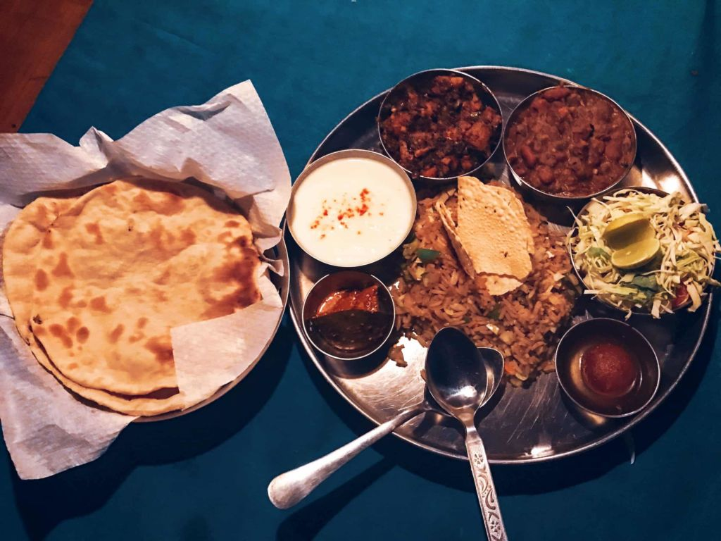 The traditional Himachali thali